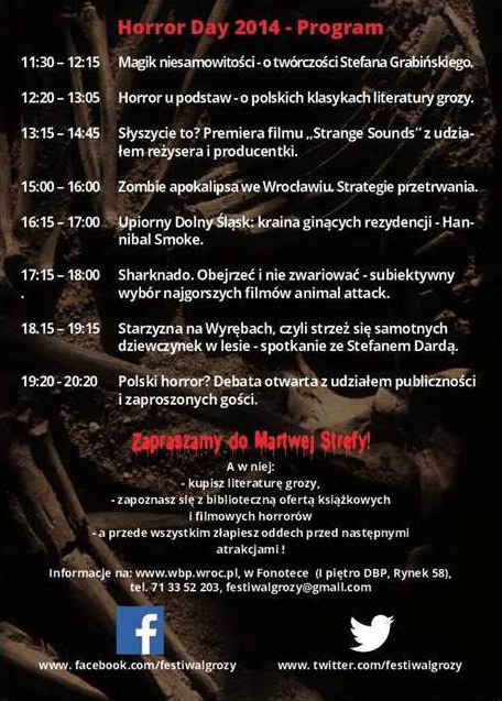 Horror Day - program